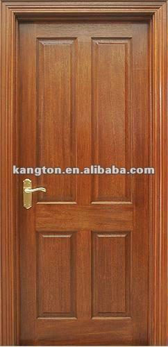 Ingeniería sólido de caoba de madera de la puerta
