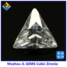 hotsale Triangle White Precious cubic zirconia with AAA Grade