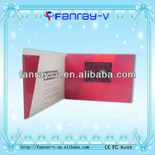 "2012 Hot popular 3.5"" tft digital lcd screen video greeting brochure card with 128MB memory"