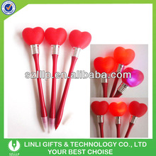 Gift Promotion Light Pen With Heart Shape