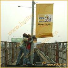 Advertising street light pole flag