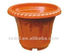 terracotta round decorate planter,injection flower pot