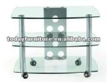 modern design moving glass TV stand TV116