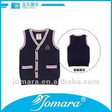 Button up V neck cardigan sleeveless school vest unisex