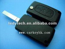 Hot sale Citroen 307 key shell with trunk button no logo,car smart flip key case