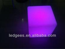 PE material puma design 40cm fancy plastic cubes chair