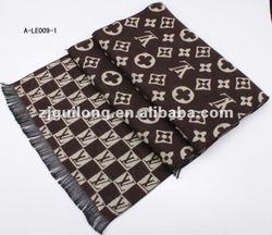 casual viscose men's jacquard scarf