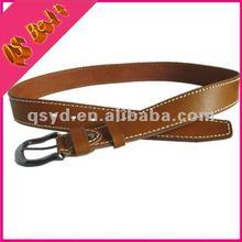 Factory Wholesale Full Grain Men Brown Genuine Leather Belt