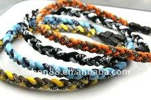 2012 fashion germanium energy braided custom health balance titanium necklace