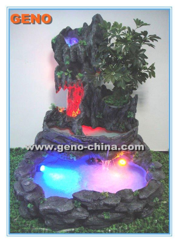 Fuente de agua rocalla con luz led para interiores otros - Fuentes de agua interiores ...
