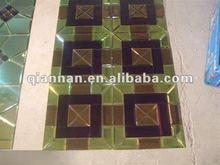 Crystal glass mosaic tile bathroom