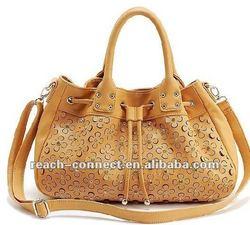 New design elegant pu leather ladies bags 2012