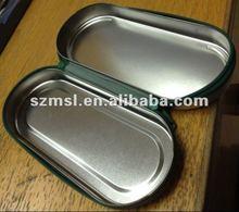 Metal Tin Pencil Box With Zipper, Zipper Tin Box