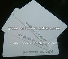 Plain white rfid card 125KHz thickness 0.8mm