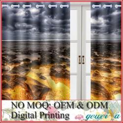 Custom Blackout Fabric 3D Digital Printed Curtain