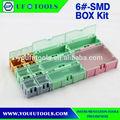 5 # SMD SMT Screw Kit componentes eletrônicos, Smd componente caixa de armazenamento