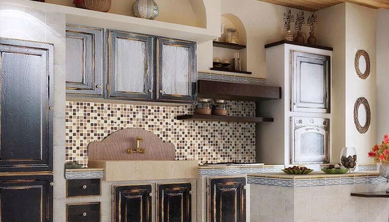 piastrelle cucina mosaico : piastrelle a mosaico in pietra per cucina decorazione della parete ...