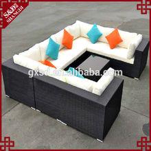 2015 hot sale new design black white livingroom u shape sofa