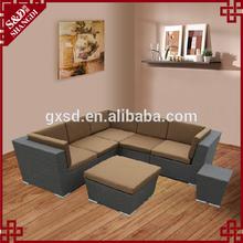 antique L shape rattan sofa ,home rattan sofa furniture