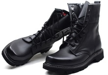 Cheap Men Military Boot Black Leather Army Boot