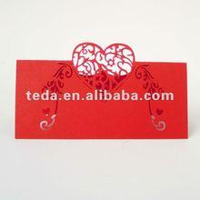 Wedding Table Favor Decoration Die Cut Guest Name