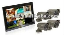 "8CH H.264 Network CCTV DVR Kits w/ 10"" LCD"