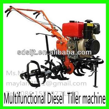 gasoline diesel tiller machine with ridger anti-skid plough hoe rotary
