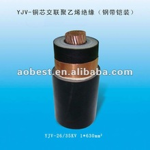 2012 best selling 3.6/33 kV SINGLE CORE XLPE INSULATED UNARMOURED PVC SHEATHED CABLE