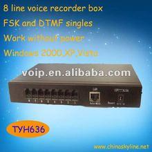 High quality 8 line voice recorder boxvoice recorder pen