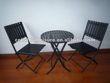 2012 the most sales 3pcs foldable polywood furniture set