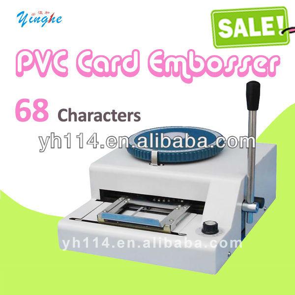 Garantieprix 100% nouveau embosseuse, pvc carte manuel gaufrage machine-- 68 mots pc, vente en gros et au détail
