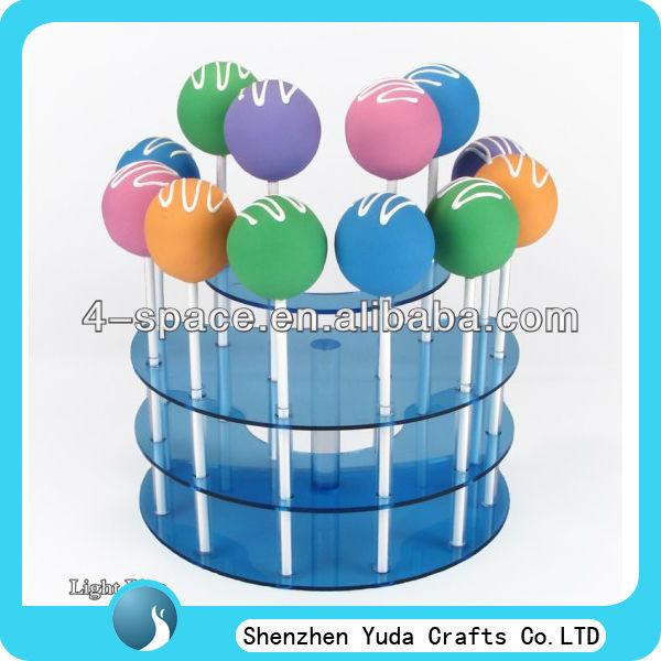 ที่มีสีสันเค้กแต่งงาน3ชั้นยืนป๊อป, อมยิ้มอะคริลิยืนแสดง, เค้กลูกแก้วยืนป๊อป