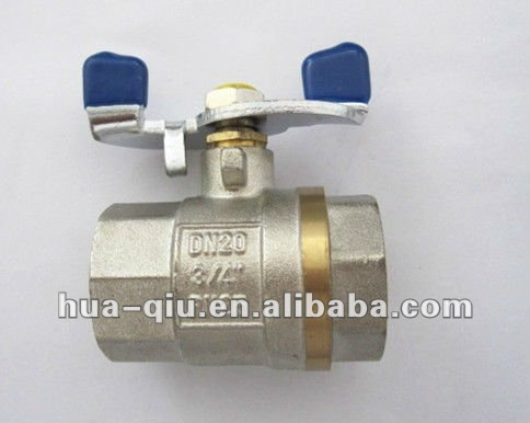 F/F threaded brass butterfly valve