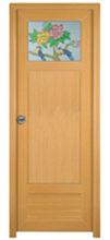 pvc bathroom double glasses door design