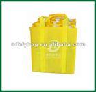 2012 Cheap nature color non woven wine bag(9 bottles)
