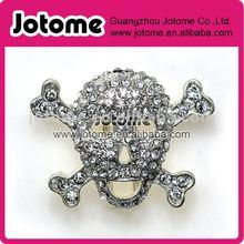 Halloween crystal rhinestone skull button for selling