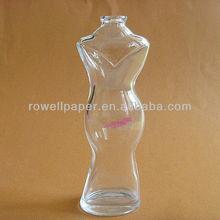 80 ml femme corps en forme de bouteille de parfum avec capuchon de pulvérisation