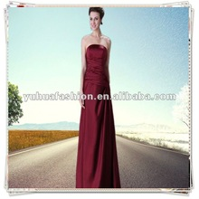 Satin Bridesmaid Wedding Evening Homecoming Dress Lady formal prom party dress