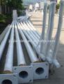 Braços duplos galvanizado postes de iluminação residencial
