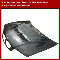 Engine Hood Carbon Fiber Bonnet with Vents for BMW E46 2dr
