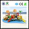 Outdoor wood playground/wood playset/wooden playground equipment QX-B1801