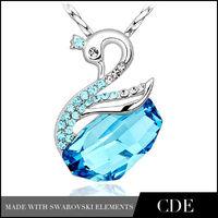 Elegant Swan Design 925 Silver Fashion Jewelry