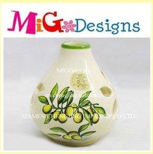Vintage Chinese Style Porcelain Tall Flower Vase