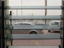 Clear and colored louver glass for windows