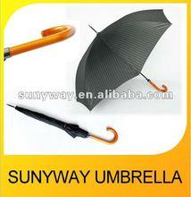 Auto Straight Wooden Handle Umbrella Fashion Gift