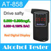 Digital Breath 3 test units three gears LED display simultaneously Alcohol Tester Analyzer Breathalyzer with 5 mouthpieces
