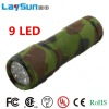9led aluminum alloy flashlight&torch rohs solar charger flashlight with CE ROHS UL certificate ningbo manufacture