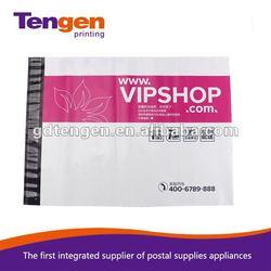 VIP SHOP customized with self-adhesive closure Virgin LDPE plastic zipper bag