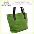新しい到着のキャンバス緑ファッション成熟した女性のためのコットントートバッグ