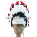 moda carnaval festa à fantasia vestido de indian cocar de penas